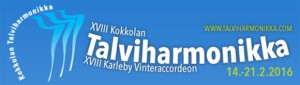 XVIII  Kokkola Winter Accordion Festival logo