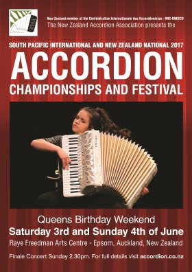 2017 South Pacific Accordion Championships poster