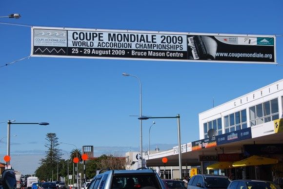 Coupe Mondiale street banner