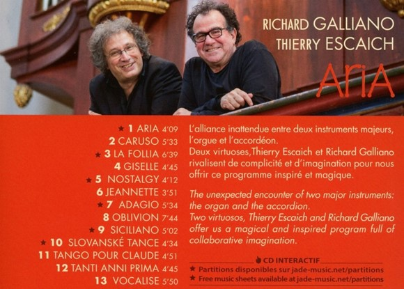 Aira, Richard Galliano and Thierry Escaich CD