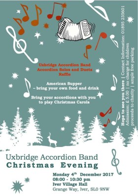 Uxbridge Accordion Band Christmas Concert Poster