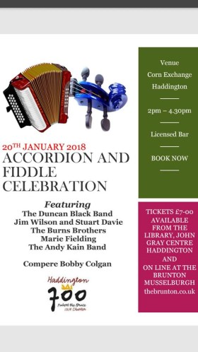 Poster, Accordion and Fiddle Celebration
