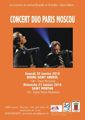 Poster, Paris-Moscow Duo Concert