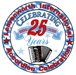 logo 25th Anniversary, Leavenworth International Accordion Celebration