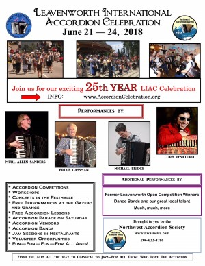 Poster 2018 Leavenworth International Accordion Celebration