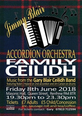 Poster: Jimmy Blair Accordion Orchestra Ceilidh