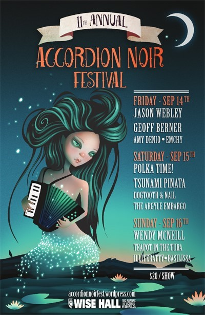 11th Annual Accordion Noir Festival poster