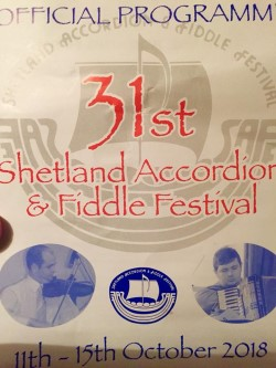 Poster 31st Shetland Accordion & Fiddle Festival