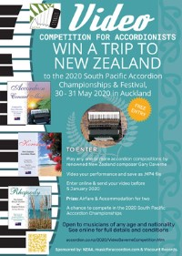 Poster: 2020 International Video Competition & Promotion of Accordion Music by Gary Daverne