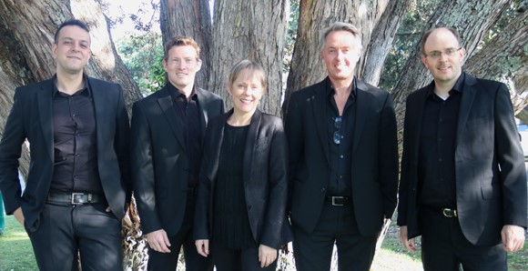 Special Guests were a new Tango group formed by Grayson Masefield from Auckland University tutors: Sarah Watkins on piano, Andrew Beer on violin, Barkin Sertkaya on guitar and Gordon Hill on bass.  They performed works by Piazzolla.
