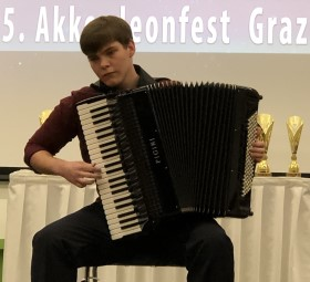 Mihajlo Petric (Bosnia and Herzegovina), winner of classical accordion V