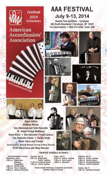 American Accordionists' Association (AAA) 2014 Festival poster