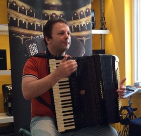 Mirco Patarini at the Scandalli Accordions Day in Puurs
