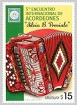 Accordion Festival Stamp Uruguay
