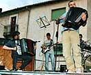 Accordionists with a small modern ensemble