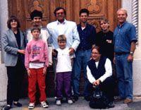 V. Zubitsky, E. Zajec, C. Furlan and students walk in Trieste