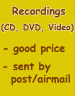 Recordings (CD, DVD, Video)