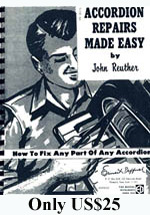 The Ins and Outs of The Accordion, Accordion Repairs Made Easy, Vintage Accordions - Rob Howard Volume 5, Accordion: A Pictorial History -Rob Howard Book Volume 6