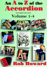Non Method Book and DVD's, Book (text) banners, An A to Z of the Accordion Volume 1-4, New Friedrich Lips book
